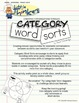 Little Thinkers Category Word Sorts - Book 1