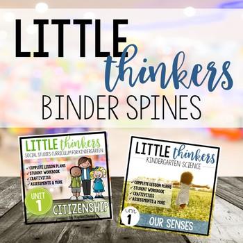 Little Thinkers KINDER Social Studies & Science Curriculum Binder Spines