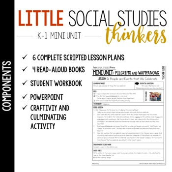 Little Thinkers SS for K-1: Pilgrims and Native Americans