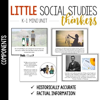 Little Social Studies Thinkers for K-1: Pilgrims and Native Americans