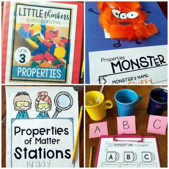 Little SCIENCE Thinkers UNIT 3: Properties {Kindergarten Science}
