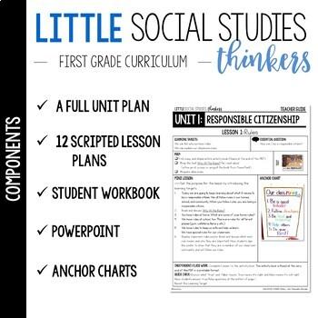 Little 1st Grade SOCIAL STUDIES Thinkers {UNIT 1: Responsible Citizenship}