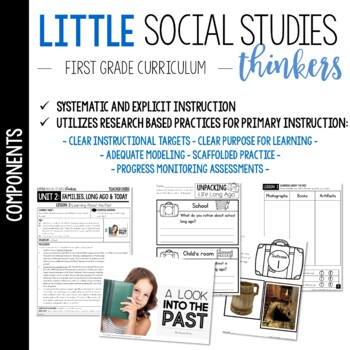 Little Thinkers SOCIAL STUDIES {1st grade} UNIT 2: Families, Long Ago & Today