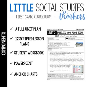 Little 1st Grade SOCIAL STUDIES Thinkers {UNIT 2: Families, Long Ago & Today}