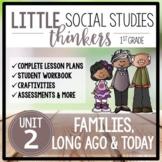 Little 1st Grade SOCIAL STUDIES Thinkers {UNIT 2: Families, Long Ago & Today}