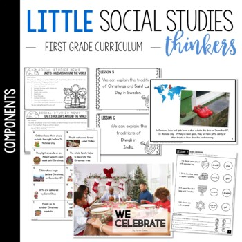 Little 1st Grade SOCIAL STUDIES Thinkers {UNIT 3: Holidays Around the World}