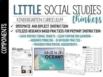 Little  Social Studies Thinkers CURRICULUM {Kindergarten Social Studies}