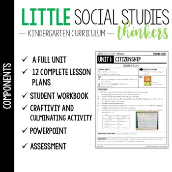 little social studies thinkers unit 1 citizenship kindergarten