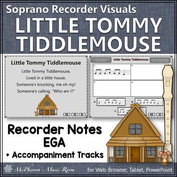Little Tommy Tiddlemouse - Soprano Recorder Visuals (Notes EGA)
