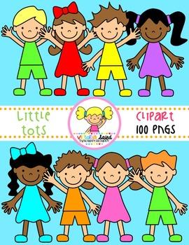 Little Tots {Kids Clipart}