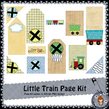 Little Train Page Kit