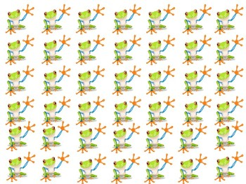 Little Tree frogs to add to clothespins for behavior chart