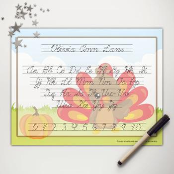 Little Turkey Abc Cursive Writing Mat