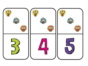 Little Turkey Dominoes {a make 5 game}