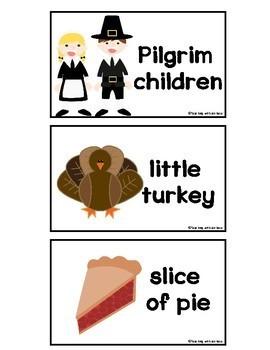 Thanksgiving Reader:Little Turkey, Little Turkey, What Do You See?+ Pocket Cards