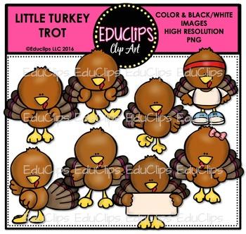 Little Turkey Trot Clip Art Bundle {Educlips Clipart}