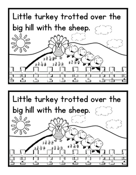 Little Turkey's Trot Easy Reader and Fill In the Blank Student Writing Template