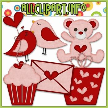 BUNDLED SET - Little Valentine Accents Clip Art & Digital Stamp Bundle