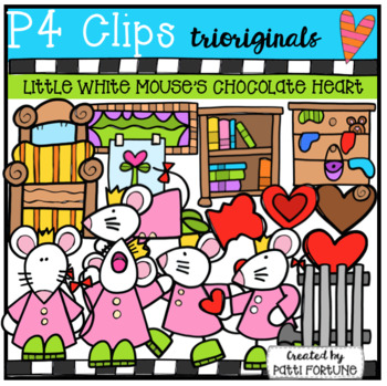 Little White Mouse's Chocolate Heart (P4 Clips Trioriginals)