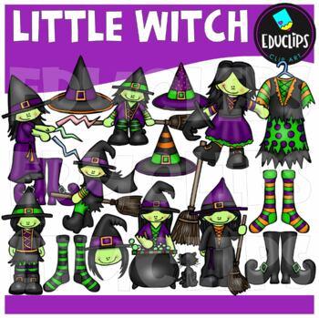 Little Witch Clip Art Bundle {Educlips Clipart}
