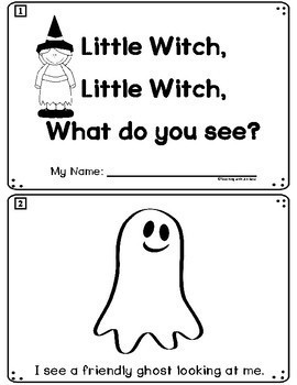 Halloween Emergent Reader: Little Witch, Little Witch, What Do You See?