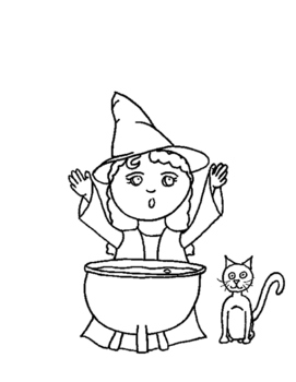 Little Witch coloring page