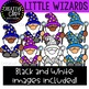 Little Wizards Clipart {Creative Clips Clipart}