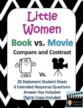 Little Women Book vs. Movie Compare and Contrast
