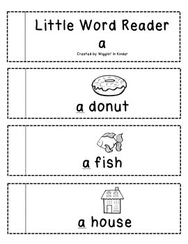 Little Word Reader - a - Sight Word Reader - Freebie