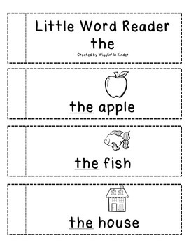 Little Word Reader - the - Sight Word Reader - Freebie