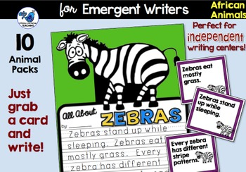 Safari African Animals Writing - Non-fiction Literacy Centers