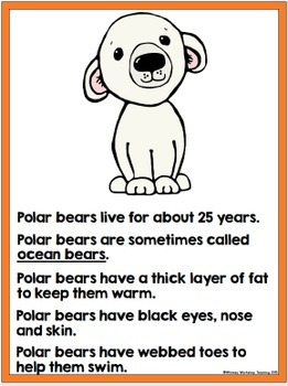 Polar Animals Writing - Non-fiction Literacy Centers