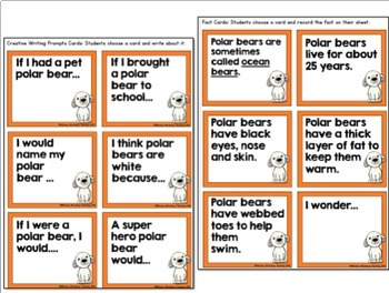 10 Polar Animals Writing - Non-fiction Fact Cards and Posters