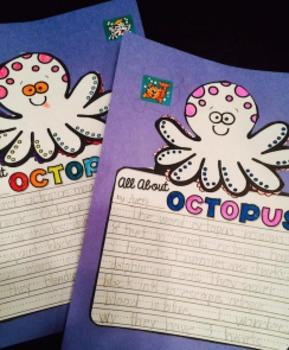 Sea Ocean Animals Writing - Non-fiction Literacy Centers