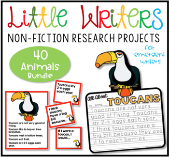 Non Fiction Writing Bundle-Sea Creatures, Polar, Rainforest, African Animals