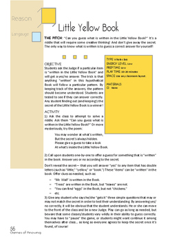 Little Yellow Book - a Logic Riddle Game