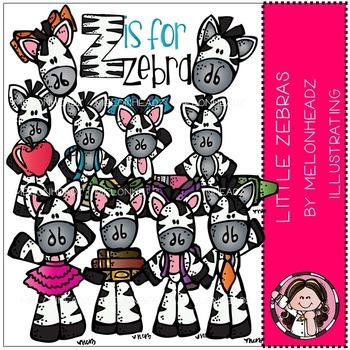 Little Zebras clip art - by Melonheadz