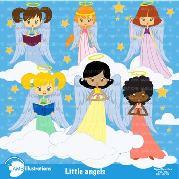Angel Clipart, Little Angels Clip Art AMB-255