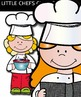Little chefs Kids clip art - Color and black/white- 37 items!