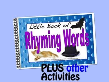 Rhyming Words  LITTLE INTERACTIVE BOOK plus activities