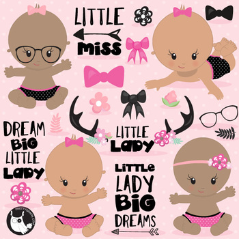 Little lady clipart commercial use, vector graphics  - CL1111