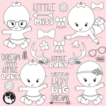 Little lady stamps,  commercial use, vector graphics, images  - DS1110