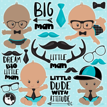 Little man clipart commercial use, vector graphics  - CL1109