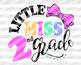 Little miss second Grade SVG 2nd grad svg design Back to school Svg Girl shirts