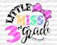 Little miss third Grade SVG Back to school Cut files Cricut Silhouette