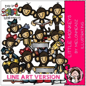Little monkeys clip art - by Melonheadz
