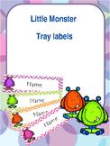 Little monster tray / peg labels - editable