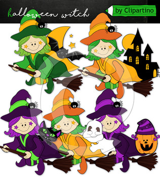 Little witch clipart
