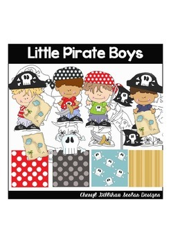 Little Pirate Boys Clipart Collection