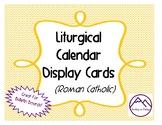 Liturgical Calendar Display
